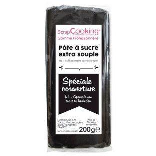 Pasta de azúcar de cobertura 200 g - Negro