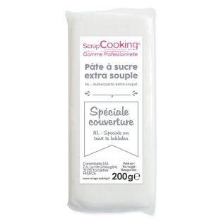 Pasta de azúcar de cobertura 200 g - Blanco