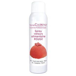 Spray à pâtisserie 150 ml - effet velours rouge