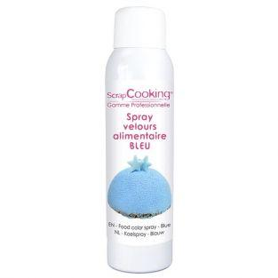 Colorante alimentario en spray 150 ml - efecto terciopelo azul