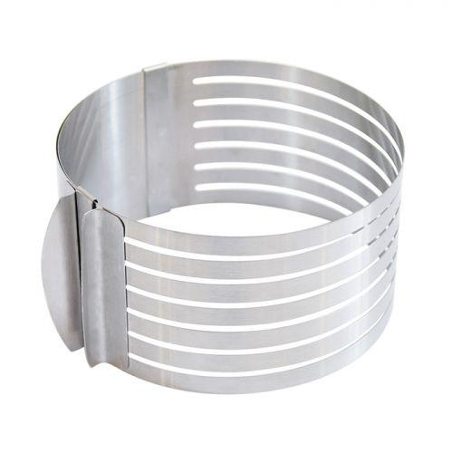 Cercle extensible en inox pour génoise - 16 à 20 cm