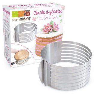 Molde para tartas extensible redondo  - 16 - 20 cm