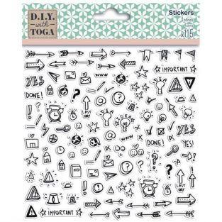 115 stickers icônes pour Bullet journal