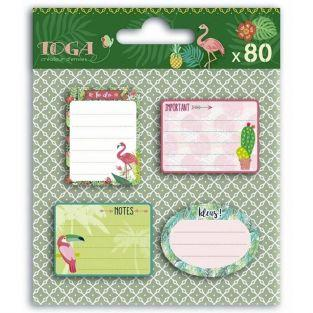80 sticky notes Jungle Tropical