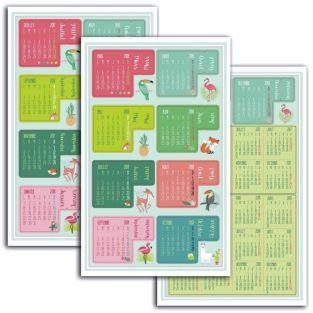 18 stickers onglets agenda 2017-2018 - jungle et tropical