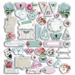 44 formes découpées pour scrapbooking Shabby Love