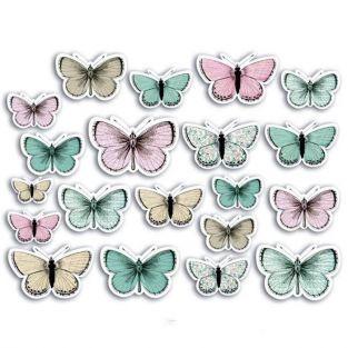 20 formes découpées pour scrapbooking - Papillons Shabby Love