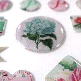 29 scrapbooking epoxy stickers - Shabby Love