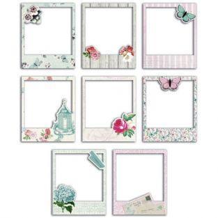 8 polaroids cartonnés pour scrapbooking Shabby Love
