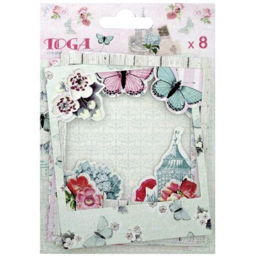 8 scrapbooking cardboard polaroids - Shabby Love