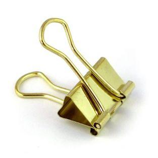 6 clips de papelería - dorado