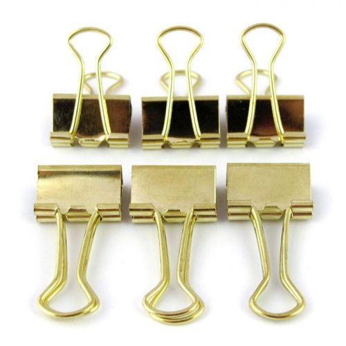 6 pinces à clips spécial papeterie - doré
