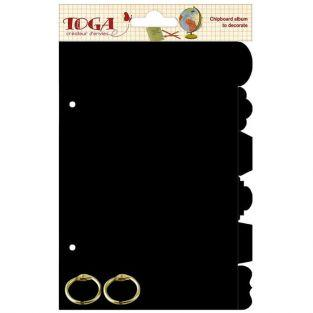 Mini album 6 onglets noirs 13 x 18 cm