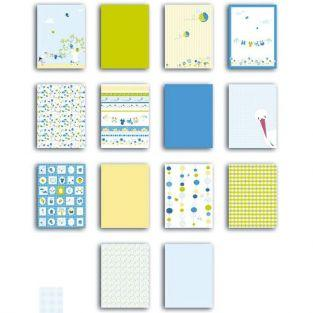 Scrapbooking block of paper - 28 sheets - blue