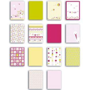 Scrapbooking block of paper - 28 sheets - pink
