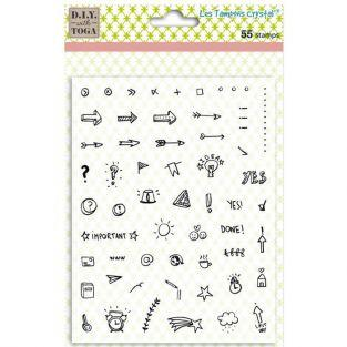 Sellos transparentes iconos para Bullet journal - 14 x 18 cm