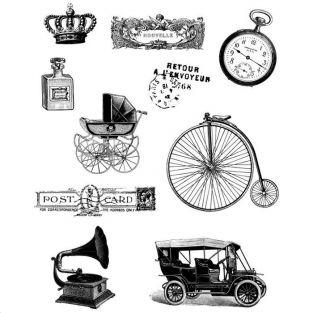 Vintage Clear stamps - 14 x 18 cm