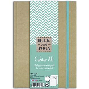 Cahier A5 kraft pour bullet journal - 240 pages