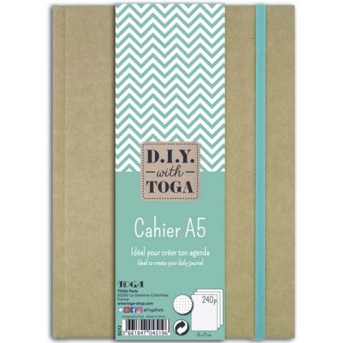 Cahier A5 kraft pour bullet journal - 240 pages