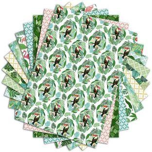 48 scrapbooking sheets Jungle - A4