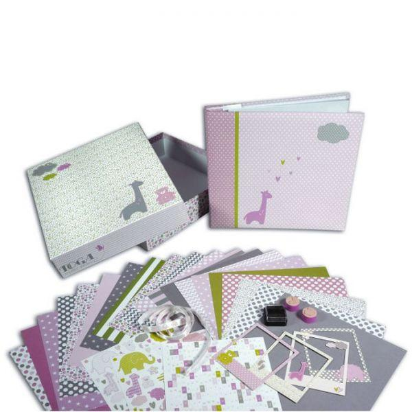 coffret de naissance scrapbooking fille youdoit. Black Bedroom Furniture Sets. Home Design Ideas
