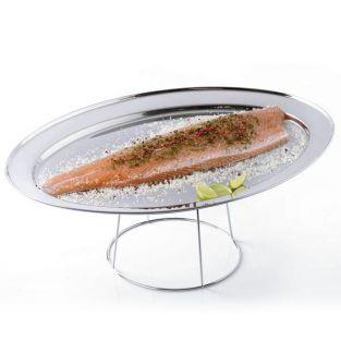 Stainless steel Seafood tray ? 36 cm with holder