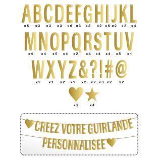 Guirnalda de letras - dorado