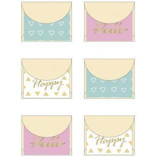 Mini enveloppes 5 x 4 cm - Happy