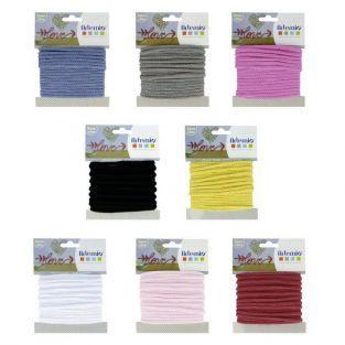 Kit de fils à tricotin - 8 couleurs x 5 m