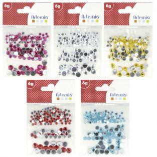 750 sticky rhinestones - Multicolored