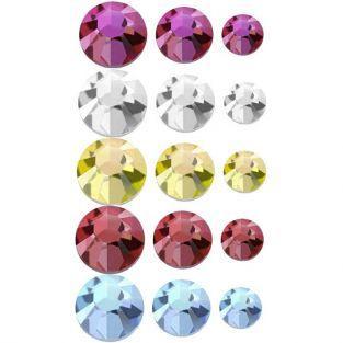 750 piedras estrás para pegar - Multicolor
