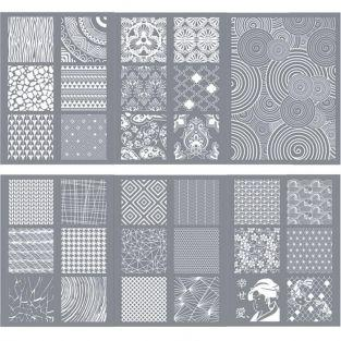 6 polymer paste stencils 11.4 x 15.3 cm