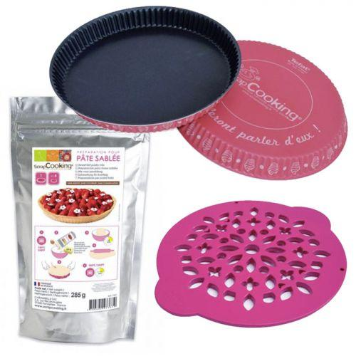 Pie mold + pie cutter ? 30 cm + Sweet tart pastry mix