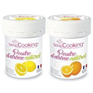 Ar?mes alimentaires naturels en poudre - citron et orange - 2 x 15 g