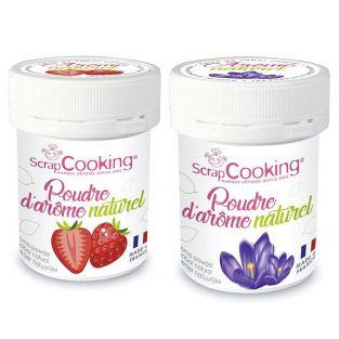 Natural flavour powder 15 g x 2 - strawberry & violet