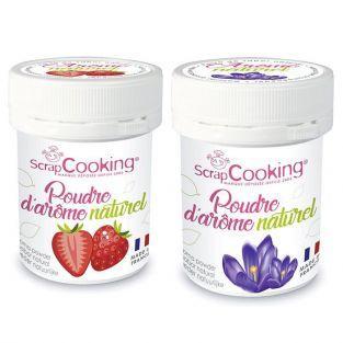 Ar?mes alimentaires naturels en poudre - fraise et violette - 2 x 15 g
