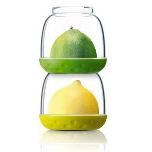 2 tarros de conservación de alimentos - anís y verde