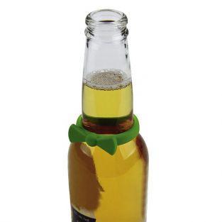 6 marque-bouteille en silicone - Noeuds papillon