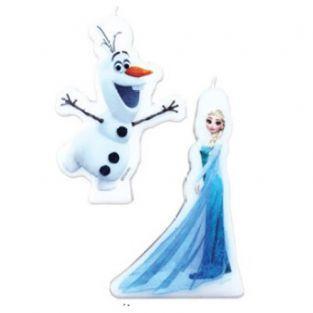 2 bougies Reine des Neiges - Elsa et Olaf