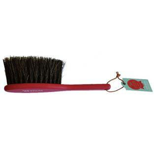 Vintage wooden dust brush by Tala - red