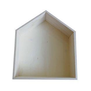 Etag?re en bois maison 35 x 30 x 10 cm