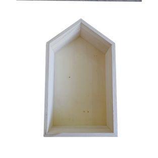 Etag?re en bois maison 30,5 x 18 x 10 cm