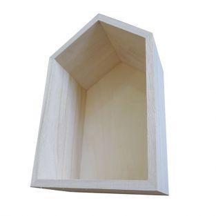 Wooden shelf house 22,5 x 14 x 10 cm