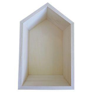Etagère en bois maison 22,5 x 14 x 10 cm