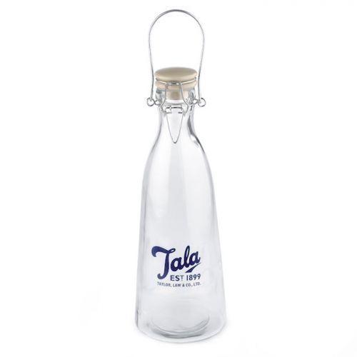 Bouteille en verre vintage 1 litre Tala - bleu