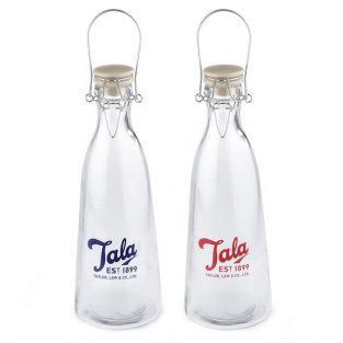 2 bouteilles en verre vintage 1 litre Tala