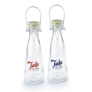 2 vintage glass bottles 50 cl by Tala