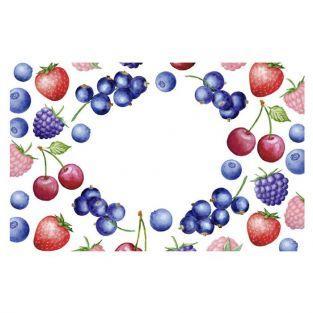 Etiquettes ? confiture x 100 - Motifs fruits rouges