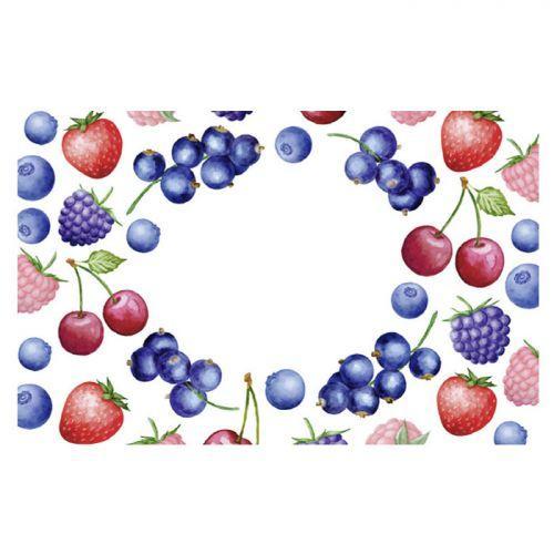 Etiquettes à confiture x 100 - Motifs fruits rouges