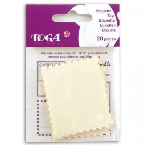 Etiquettes papier - Timbre